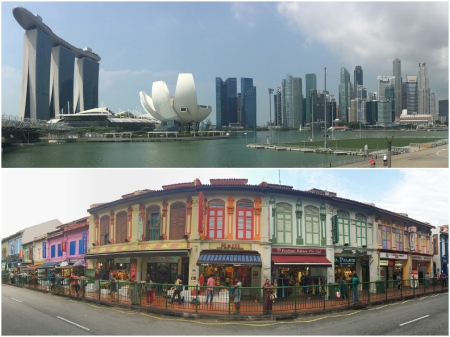 1 Singapore is a city that combines one of the most distinctive skylines in the world with a wide range of traditional architecture that reflects its rich ethnic makeup.