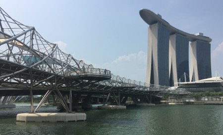14 The Helix Bridge and The Marina Bay Sands Hotel are just two examples of the innovative architecture that surrounds Marina Bay.