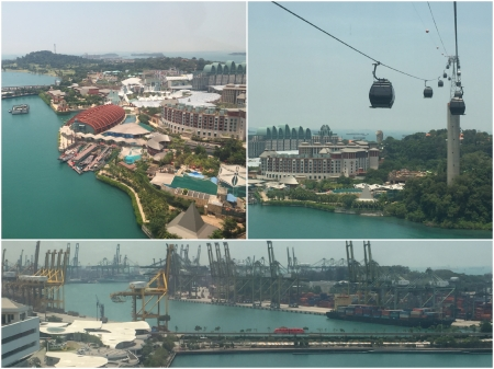 8 The Resort and Entertainment island of Sentosa is connected to the nearby port area by causeway and cable car.