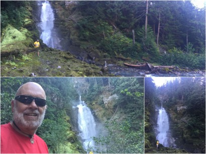 We also checked out the Peaches and Cream Waterfall which was next to the Molson Memorial camping spot.