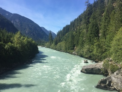 Typical Canadian scenery. We recrossed the Elaho River to return to Vancouver.