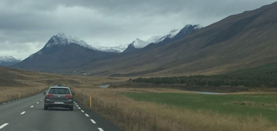 Driving south back to Reykjavik