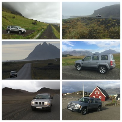 Our rented Jeep Patriot took us all around Iceland